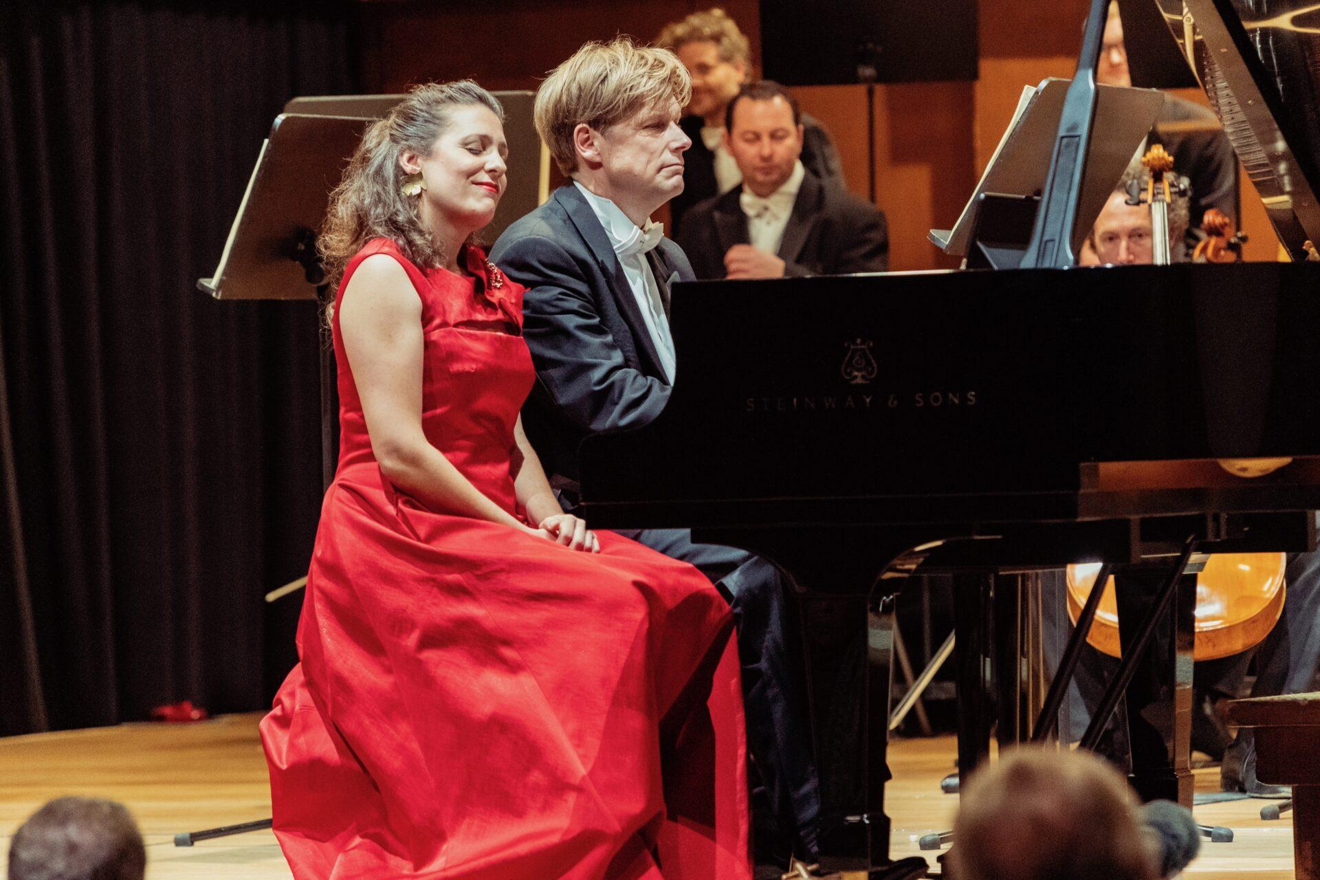 mit Ariane Haering-Schmid bei der gemeinsamen Zugabe nach Mozart KV 466  12/2018